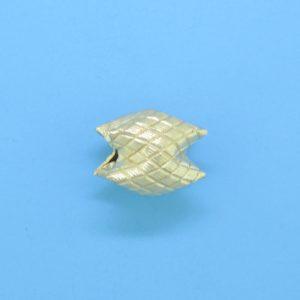 1007 - 10x8mm Gold Filled Interlock Bead