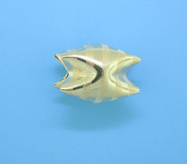 1019 - 16x21mm Gold Filled Interlock Bead