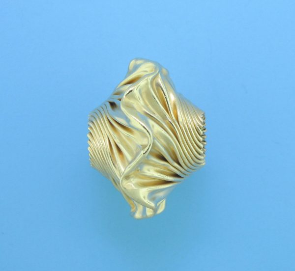 888 - 15x21mm Gold Filled Fancy Bead