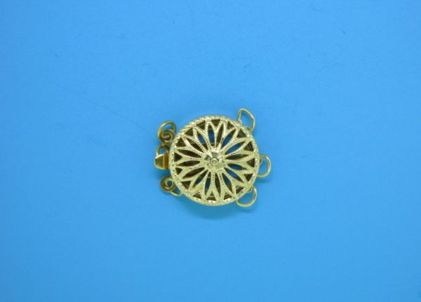 # 372 - 12mm Gold Filled Round Filigree Clasp