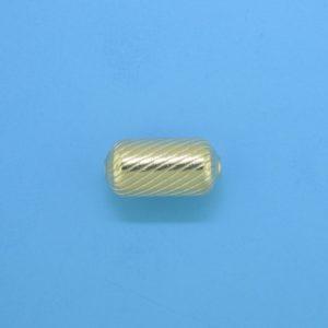1076 - 6.2x13mm Gold Filled Fancy Bead