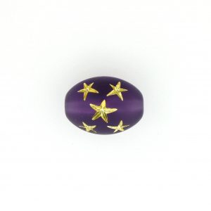 9023 - 16x13mm Gold Star Beads (Oval) - Amethyst