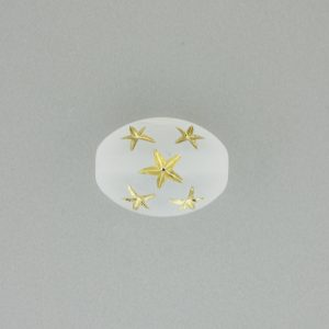 9023 - 16x13mm Gold Star Beads (Oval) - Frosty