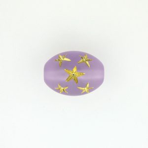 9023 - 16x13mm Gold Star Beads (Oval) - Light Amethyst