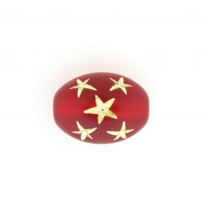 9023 - 16x13mm Gold Star Beads (Oval) - Light Siam