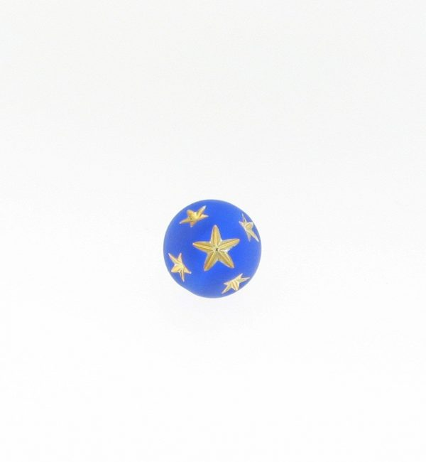 9020 - 10mm Gold Star Beads (Round) - Sapphire