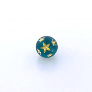 9020 - 10mm Gold Star Beads (Round) - Emerald