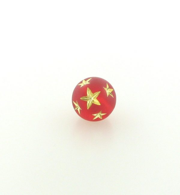 9020 - 10mm Gold Star Beads (Round) - Light Siam