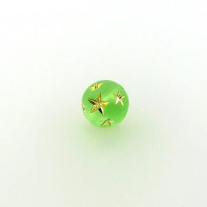 9020 - 10mm Gold Star Beads (Round) - Peridot