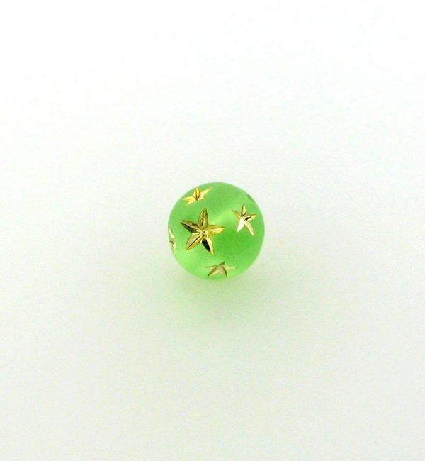 9020 - 10mm Gold Star Beads (Round) - Peridot