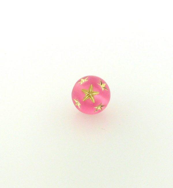 9020 - 10mm Gold Star Beads (Round) - Rose