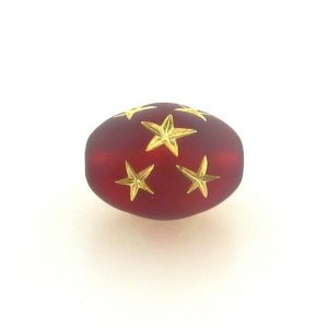 9023 - 16x13mm Gold Star Beads (Oval) - Siam