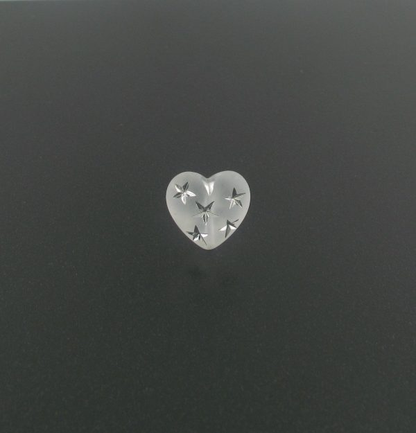 9552 - 10mm Silver Star Beads (Heart) - Frosty