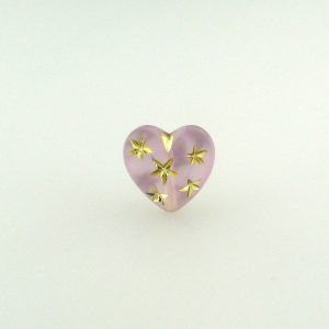 9555 - 14mm Gold Star Beads (Heart) - Light Amethyst