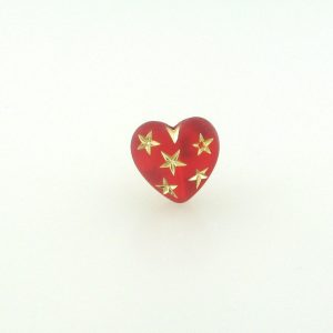 9555 - 14mm Gold Star Beads (Heart) - Light Siam