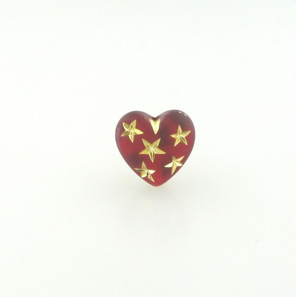 9555 - 14mm Gold Star Beads (Heart) - Siam