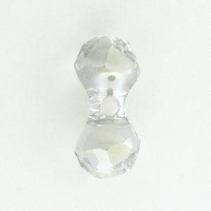 5150 - 15x7mm Swarovski Crystal Modular Bead - Silver Shadow
