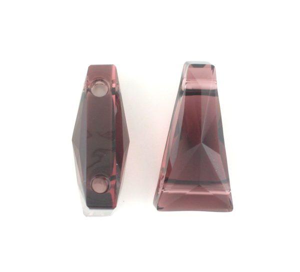 5181 - 13x7mm Swarovski Keystone Bead (Two Holes) - Burgundy