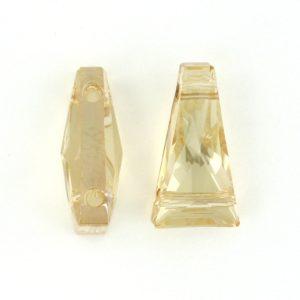 5181 - 13x7mm Swarovski Keystone Bead (Two Holes) - Golden Shadow