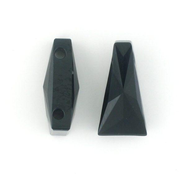 5181 - 13x7mm Swarovski Keystone Bead (Two Holes) - Jet