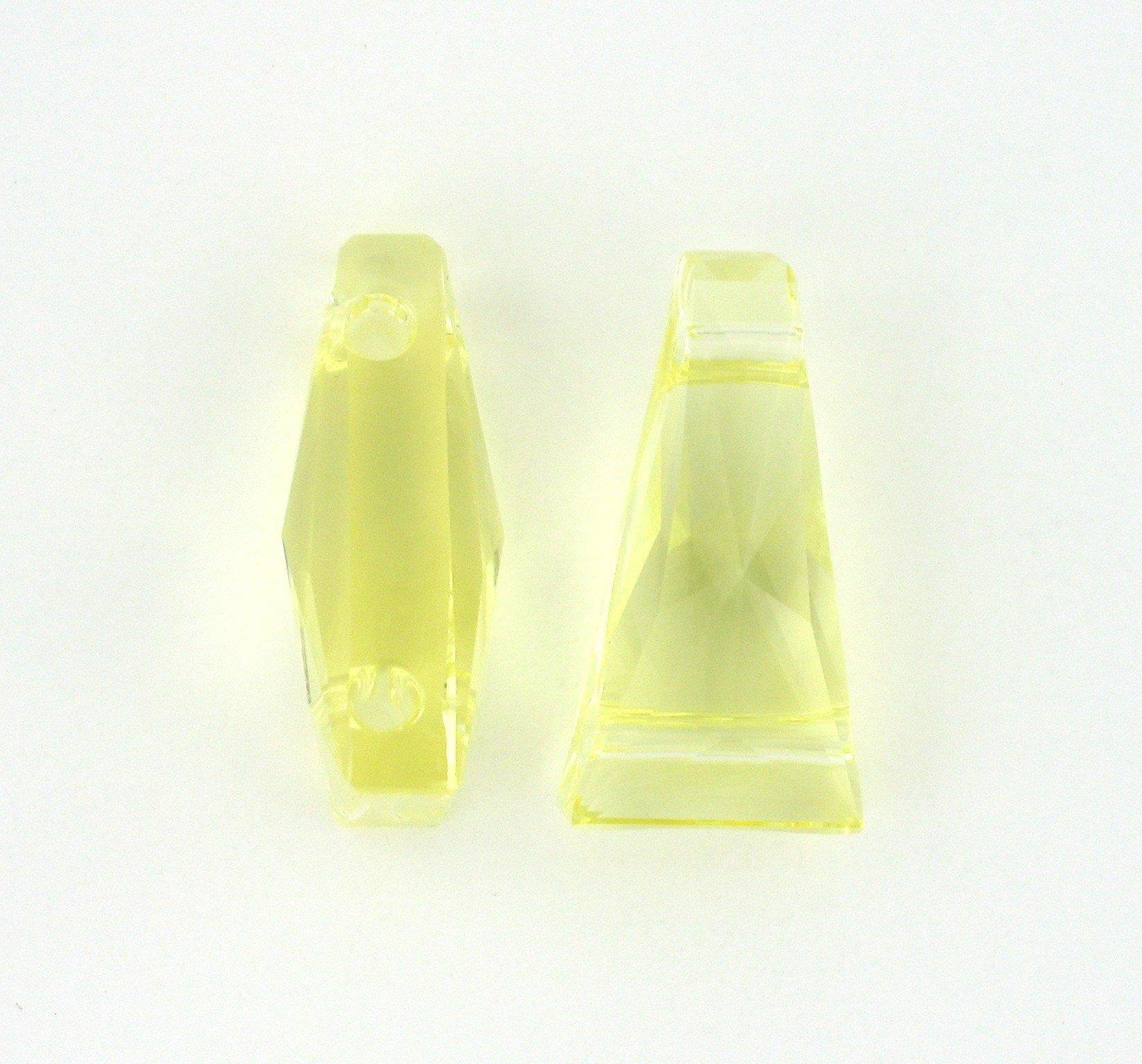 1xSwarovski ® jonquil 13x7mm Keystone Bead