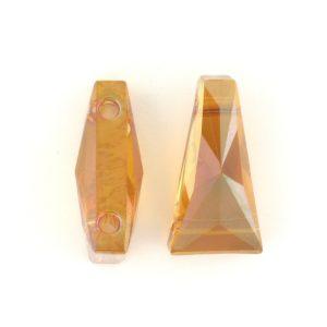 5181 - 17x9mm Swarovski Keystone Bead (Two Holes) - Copper