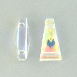 5181 - 17x9mm Swarovski Keystone Bead (Two Holes) - Crystal AB