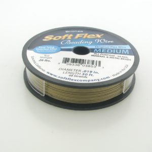 11088 - Soft Flex Beading Wire - 0.019, 10'  Bronze