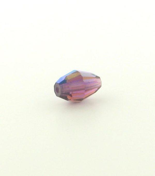 5200 - 9x6mm Swarovski Crystal Oval Bead - Amethyst AB