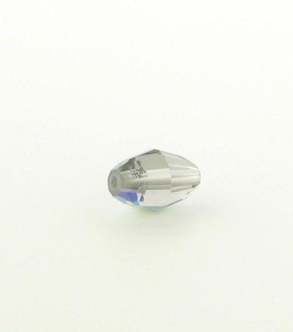 5200 - 9x6mm Swarovski Crystal Oval Bead - Black Diamond AB