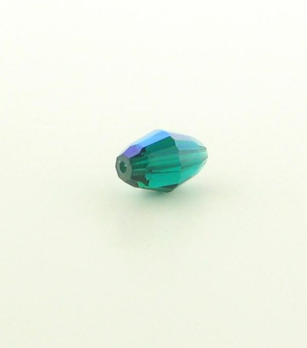 5200 - 9x6mm Swarovski Crystal Oval Bead - Emerald AB