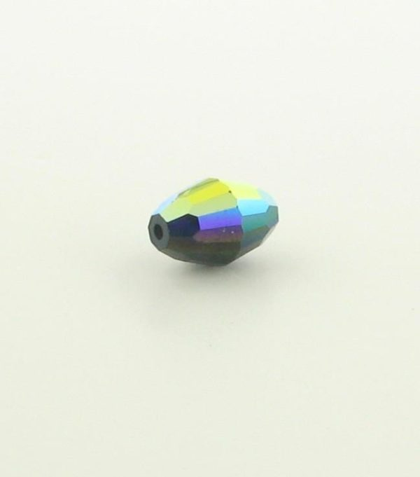5200 - 9x6mm Swarovski Crystal Oval Bead - Jet AB