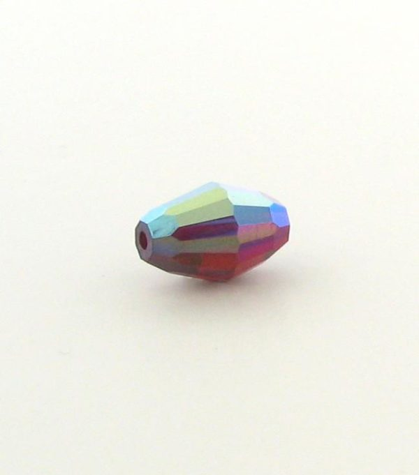 5200 - 9x6mm Swarovski Crystal Oval Bead - Siam AB
