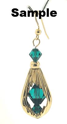 305 - Gold Filled Fancy Drop Window Bead