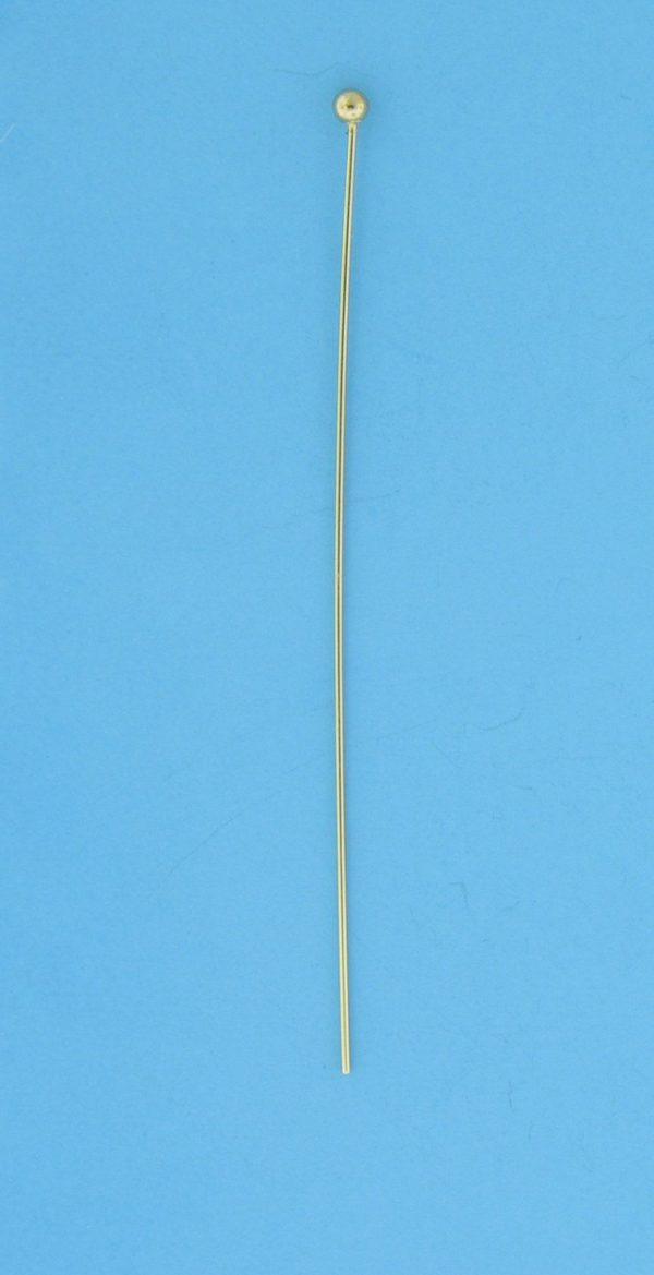 """1744 - 2"""" (24-G) Gold Filled Head Pin"""