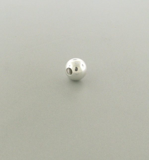 563 - 4mm Sterling Silver Plain Round Bead