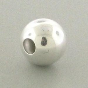 1203 - 16mm Sterling Silver Plain Round Bead