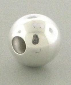 1204 - 19mm Sterling Silver Plain Round Bead