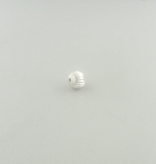 571 - 3mm Sterling Silver Corrugated Round Bead