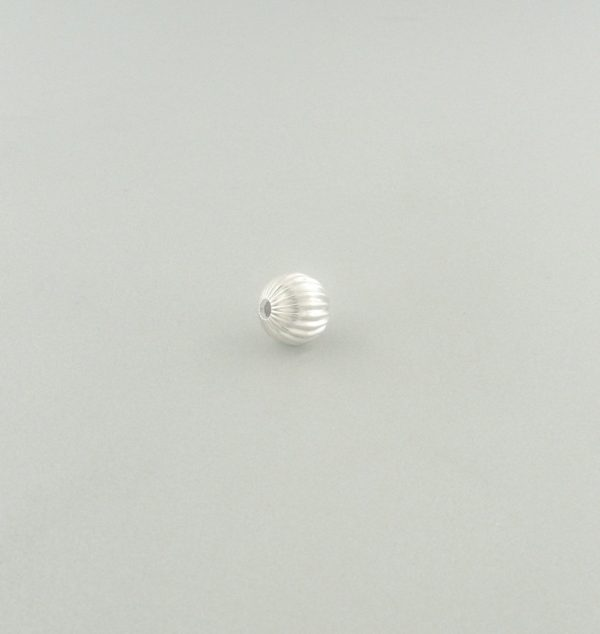 572 - 4mm Sterling Silver Corrugated Round Bead