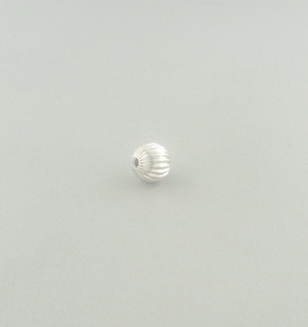 573 - 5mm Sterling Silver Corrugated Round Bead