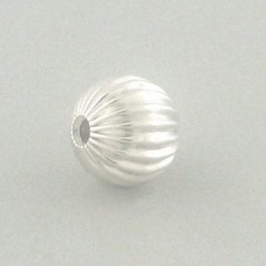 583 - 22mm Sterling Silver Corrugated Round Bead