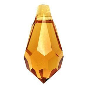6000 - 11x5.5mm Swarovski Crystal Drop Pendants - Topaz