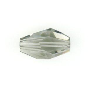 5203 - 12x8mm Swarovski Polygon Bead - Black Diamond