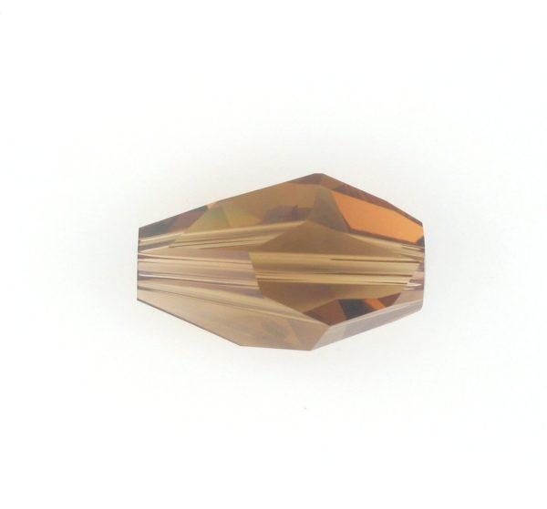 5203 - 12x8mm Swarovski Polygon Bead - Smoke Topaz