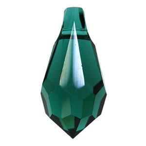 6000 - 15x7.5mm Swarovski Crystal Drop Pendants - Emerald