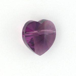 5742 - 8mm Swarovski Crystal Heart Bead - Amethyst