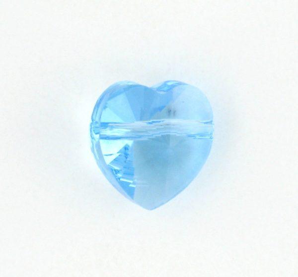 5742 - 8mm Swarovski Crystal Heart Bead - Aquamarine