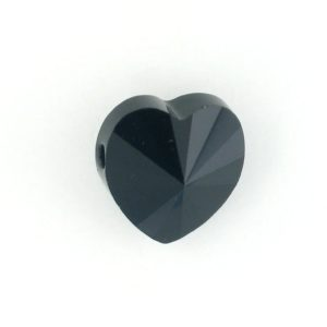 5742 - 8mm Swarovski Crystal Heart Bead - Jet