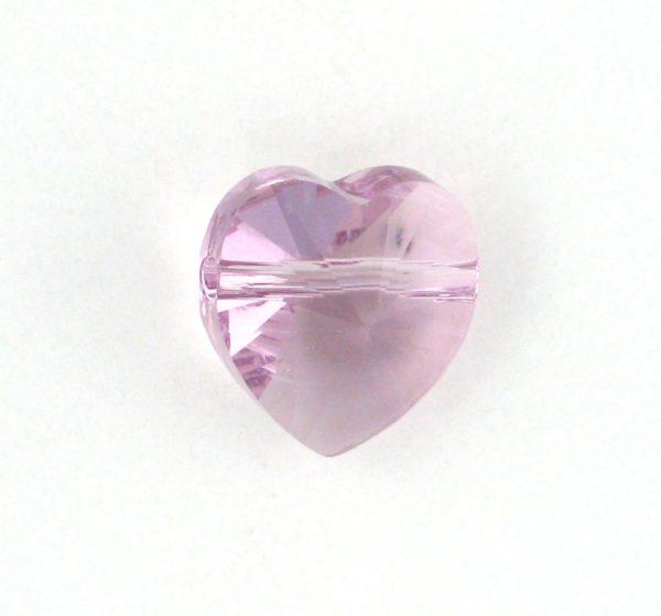 5742 - 8mm Swarovski Crystal Heart Bead - Light Amethyst